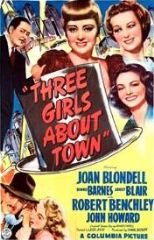 Three Girls About Town 1941 DVD - Joan Blondell / Robert Benchley
